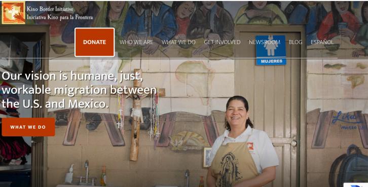 Screenshot of KBI web page.